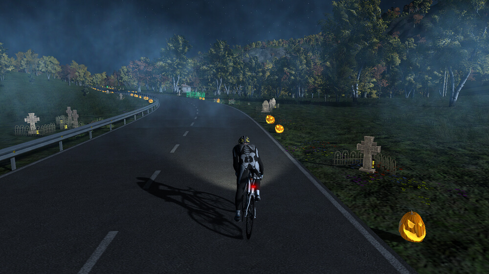 simulador ciclismo bkool halloween