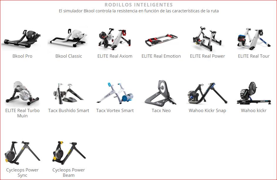 La lista de rodillos inteligentes compatibles con el simulador de ciclismo Bkool cada vez es más amplia