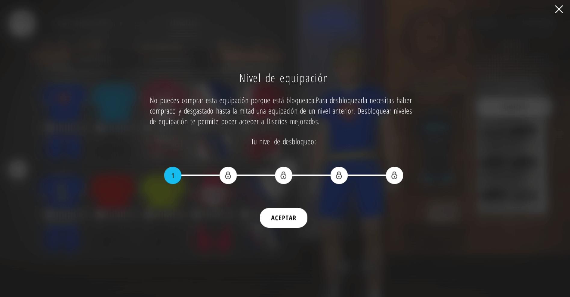 Niveles equipación Simulador Bkool