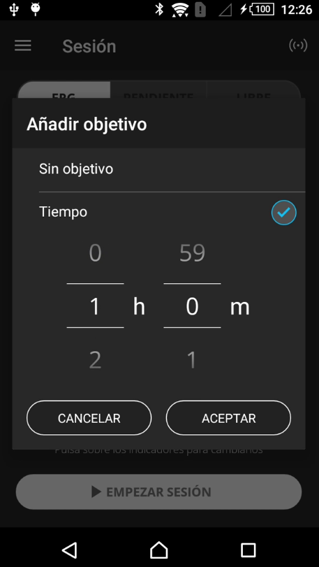 Fijar tiempo Android