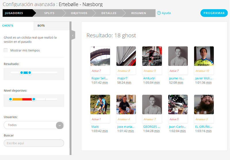 Los ghosts en Bkool