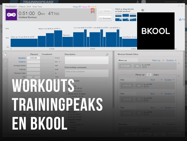 Workouts de TrainingPeaks en Bkool
